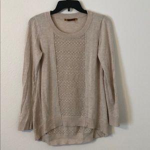 Belldini Hi-Lo Open Knit Lightweight Sweater